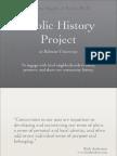 Public History Project Proposal Presentation