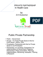 PublicPrivatePartnershipPPPHealthCareDr H Sudarshan