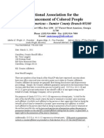 Letter Carroll Ton County Sheriff Counter Affidavit NAACP