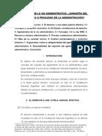 AGOTAMIENTO DE LA VÍA ADMINISTRATIVA GARANTÍA DEL ADMINISTRADO O PRIVILEGIO DE LA ADMINISTRACIÓN - Pedro Rolando