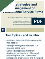 Lowendahl_SF07_TheStrategiesAndManagementOfProfessionalServiceFirms