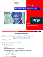 Ecuacion Bicuadrada Fraccionaria
