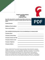 MKT4009 Proposal Form
