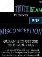 33. Quran is in Oppose to Democracy