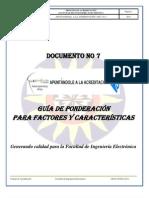 APUNTANDOLE A LA ACREDITACION DOC No 7  PONDERACIÓN
