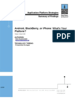 Android Blackberry or iPhone Whats Your Platform