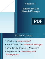 01 Finance and the Financial Manager