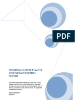 working capital finance 4 infrastructure sector