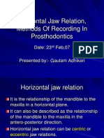 Horizontal Jaw Relation, Method of Recording And