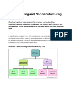 Manufacturing and Non Manufacturing Costs