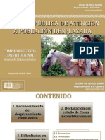 Debate Control Político 14-09-2011 Desplazados