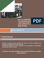 De La répression à l'extermination - Les Droits de l'Homme Bafoués Version Online