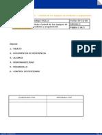 Procedimiento – DC2.11 - Control de los equipos de medición y seguimiento
