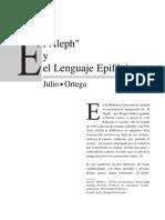 El Aleph y el Lenguaje Epifánico