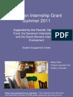 Whitman Internship Grant