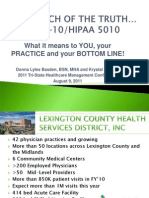 ICD-10 HIPAA5010 (a Joint Presentation)