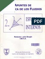 Mecánica de fluidos  ESFUERZOS INTERNOS Julio Borghi (Universidad de la República Oriental del Ur