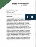 FRA Letter-passenger Rail Proposal 091211