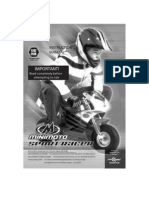 Manual Minimoto Sport Racer