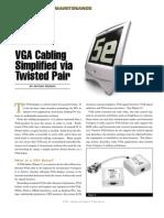 VGA Cabling Simplified