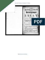Jane Lead - The Revelation of Revelations 1701 Edition