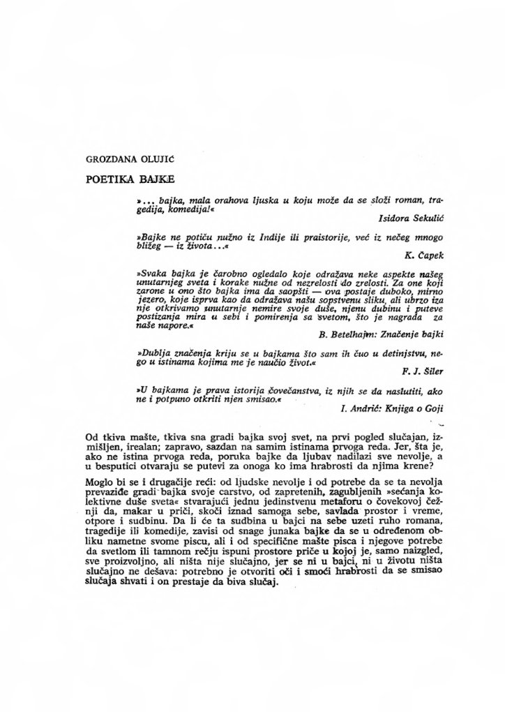 Bajke pdf olujic grozdana GROZDANA OLUJIC