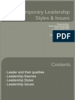 Contemporary Leadership Styles & Issues