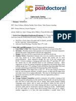84th Penn Biomedical Postdoctoral Council minutes, May 07, 2007