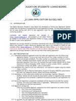Online Loan Application Eguideline