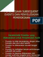12.Pemeriksaan Subsequent Events Dan ian Pemeriksaan