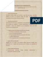Preguntas de Derecho Administrativo Colombiano