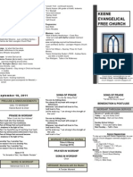 Church Bulletin -September 18th