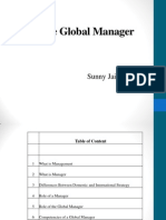 Role of a Global Manager