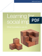 McKinsey - Learning for Social Impact