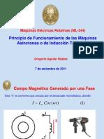 Principio de Funcionamiento de las Máquinas Asíncronas o de Inducción Trifásicas