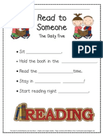 Read to Someone Activity Sheet