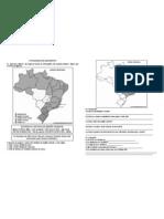 Atividade de Geografia mapa para teste 5º ano