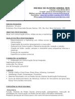Currículo  Michele de Oliveira Amaral Reis