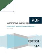 EDTECH 512 - Summative Evaluation Plan