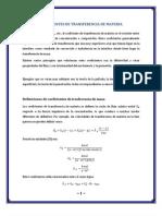 Coeficientes de Trasferencia de Masa
