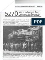 West Albany's Last Steam Locomotive the 5270
