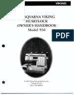 Huskylock 936 Owners Handbook x