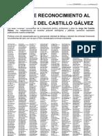 Carta de Reconocimiento a Del Castillo