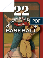 22 Success Lessons From Base Ball