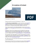 2010 Eruptions of Icelan1