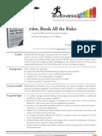 Businesspresso n°2 - First, Break All the Rules