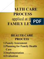 Healthcare Process Applied at the Family LEvel