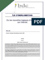 Cyber Lobbying Ou Les Nouvelles Logiques d Influence Sur Internet