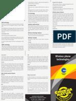Wireless Phone Technologies Brochure