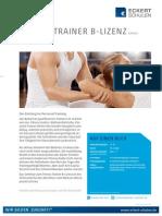 Datenblatt Fitenss-Trainer B-Lizenz